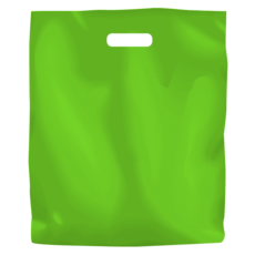 Plastic Bag Low Density Large - Lime 500PK