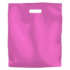 Plastic Bag High Density Large Hot Pink - 1000PK