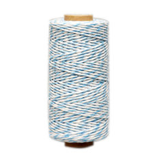 Pale Blue/ White Bakers Twine 2mm x 100 metres