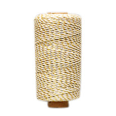 Natural/ Gold Metallic Twist 1.5mm x 100 metres