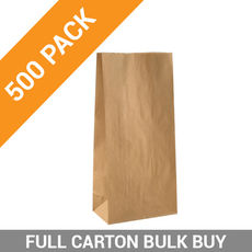 Flat Bottom Brown Bag - Medium - 500PK