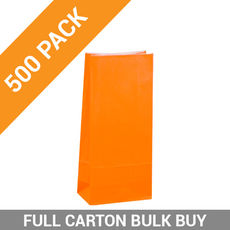 Carnival Gift Bag Small No Handles - Orange 500PK
