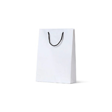Deluxe White Kraft Paper Bag Small - 250PK