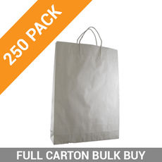 White Kraft Paper Bag Medium - 250PK