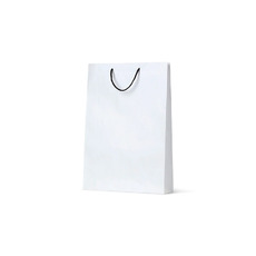 Deluxe White Kraft Paper Bag Medium - 250PK