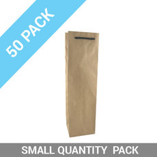 50 PACK - Wine Gift Bag Kraft Single