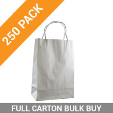 White Kraft Paper Bag Junior - 250PK
