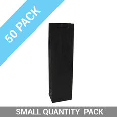 50 PACK - Wine Gift Bag Gloss Black Single