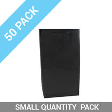50 PACK - Wine Gift Bag Gloss Black Double