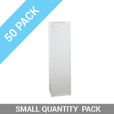 50 PACK - Wine Gift Bag Gloss White Single