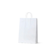 White Kraft Paper Bag Midi - 250PK