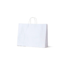 White Kraft Paper Bag Midi Boutique - 250PK