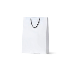 Deluxe White Kraft Paper Bag Midi - 250PK