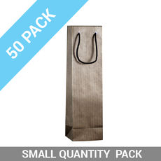 50 PACK - Wine Gift Bag Single Striped Black