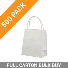 White Kraft Paper Bag Toddler - 500PK