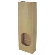 Retail Small Window Paper Bag - Brown (500PK) - DISCONTINUED