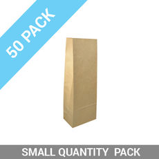 50PK Retail 500g Paper Bag - Brown Tin Tie