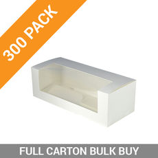 300PK Window Patisserie Box - Long 10 White