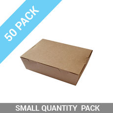 50PK Lunch Boxes - Small Brown