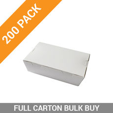 200PK Lunch Boxes - Extra Small White