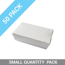 50PK Lunch Boxes - Extra Small White