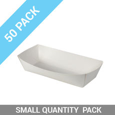 50PK Food Trays 4 - Large White