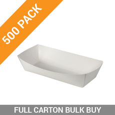 500PK Food Trays 3 - Medium White