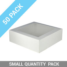 50PK Window Patisserie Box - Square 11 White