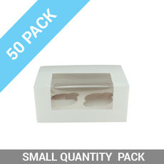 50PK 2 Cupcake Box with Insert