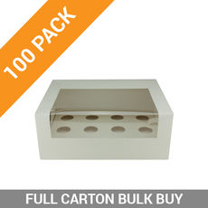 100PK 12 Mini Cupcake Box with Insert