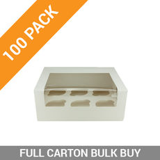 100PK 6 Cupcake Box with Insert