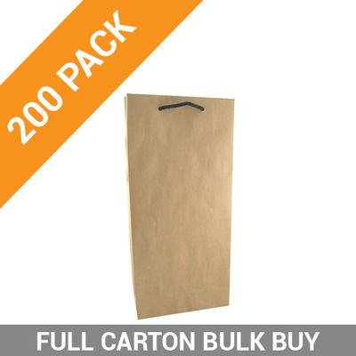 Wine Bag Kraft Double - 200PK