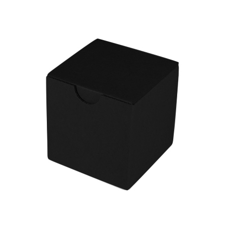 Black Cardboard Candle Cube Box