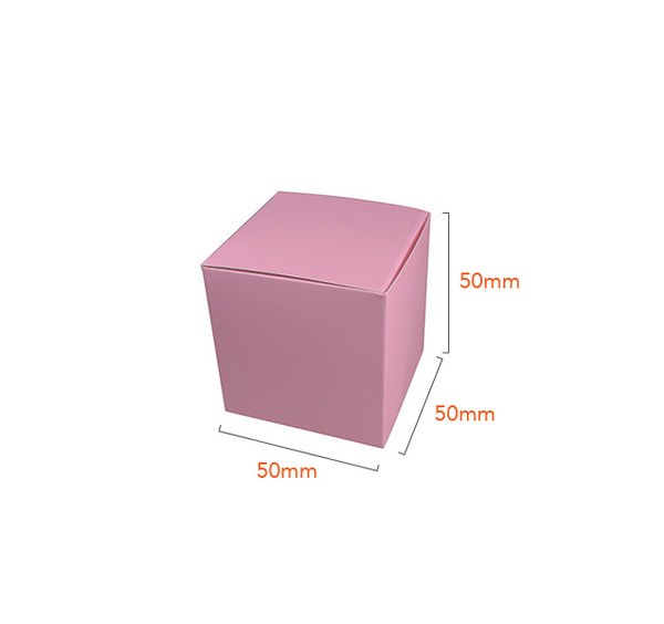 One Piece Cube Box 50mm - Matt Pink