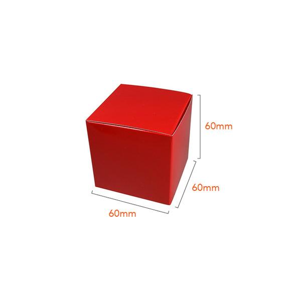 NOW $1.00ea - 300 x One Piece Cube Box 60mm - Gloss Red