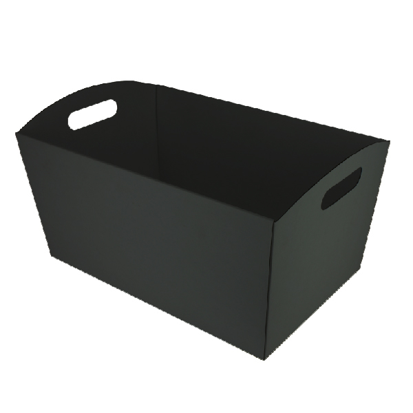 Extra Large Hamper Tray Double Sided Kraft Black (Double Sided Black)