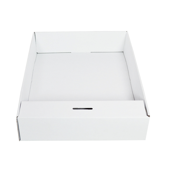 Snack Box with Money Holder - Kraft White (White Inside)