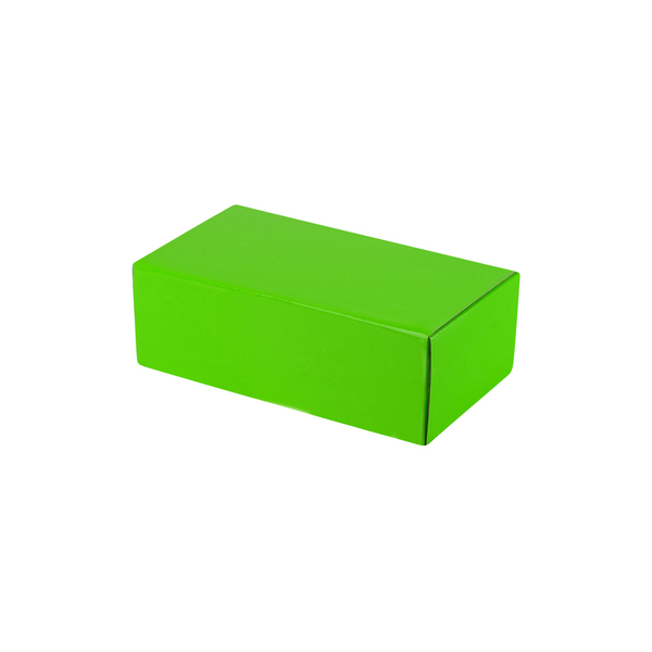 One Piece Postage & Gift Box 7425 - Premium Gloss Lime Green (White Inside)