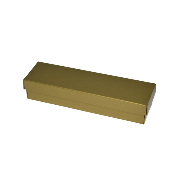 NOW $1.50ea - 145 x Slim Line Pen Gift Box - Gloss Gold (White Inside)
