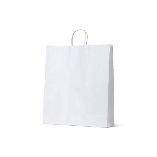 White Kraft Paper Gift Bag Large - 250PK