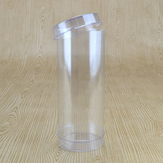 Clear Macaron Box 51mm Cylinder 125mm High (Suitable for 3-5 Macaroons) - 51 x 51 x 125mm