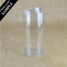 SAMPLE - Clear Macaron Box 60mm Cylinder 125mm High (Suitable for 3-5 Macaroons) - 60 x 60 x 125mm