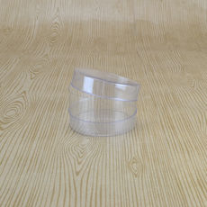Clear 60mm Cylinder Box 35mm High (Suitable for 1 Macaroon) - 60 x 60 x 35mm