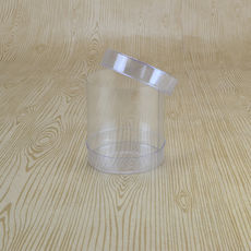 Clear Macaron Box 60mm Cylinder 65mm High (Suitable for 1-2 Macaroons) - 60 x 60 x 65mm
