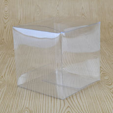 Clear Plastic Cube Folding Box #6 - 90 x 90 x 90mm