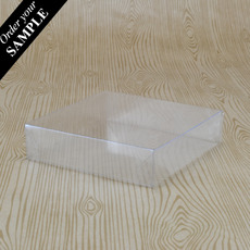 SAMPLE - Clear Plastic Lid & Base 100 - 100 x 100 x 25mm