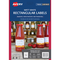 White Rectangular Removable Product Labels, L7108REV, 90/Pack, 62 x 89 mm