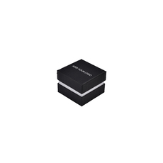 CUSTOM PRINTED Rigid Two Tone Texture Small Jewellery Box for Rings, Earrings, Pendants-black/white reversable velvet insert
