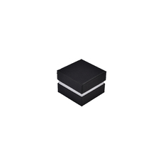 Rigid Two Tone Texture Small Jewellery Box for Rings, Earrings, Pendants or Hoops (with removable black/white reversable velvet foam insert)