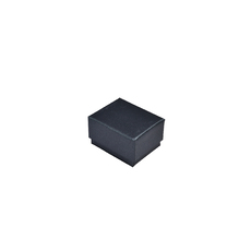 Rigid Cardboard Standard Small Jewellery Box for Rings, Earrings, Pendants or Hoops - Metallic Charcoal(with removable black/white reversable suede fo